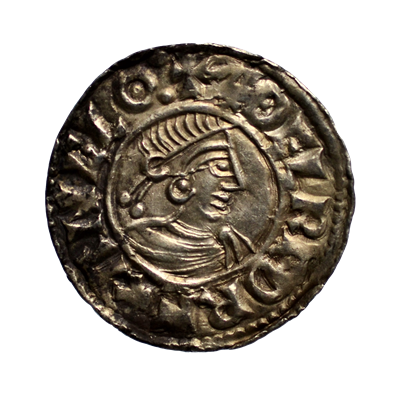 Aethelred II Right Facing Small Cross Penny